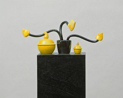 Udo Kaller, Topfpflanze mit 2 Dosen, 1999