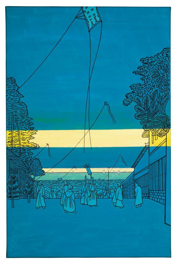 Udo Kaller | Blick vom Hügel Kasumigaseki auf Edo an Neujahr