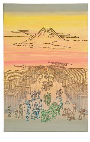 Udo Kaller | Stoffgeschäfte in der Suruga-Straße und Blick auf den Fujiyama