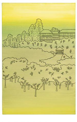 "Udo Kaller | Der ""Blumenpavillon"" auf dem Dango-Hang im Frühling"