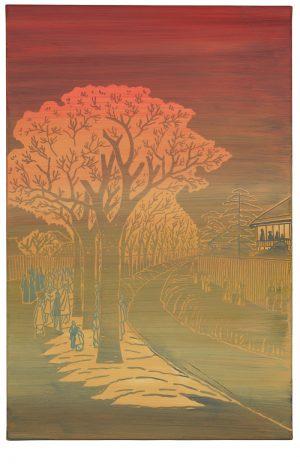 Udo Kaller | Kirschbäume am Uferdamm des Tama-Flusses