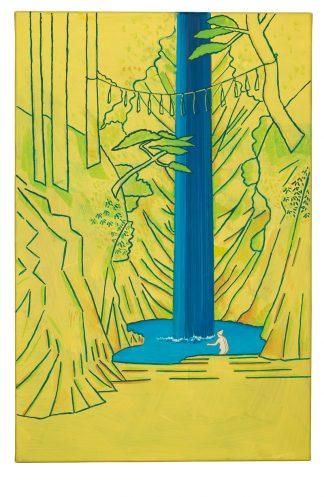 Udo Kaller   Badende am Fudō-Wasserfall