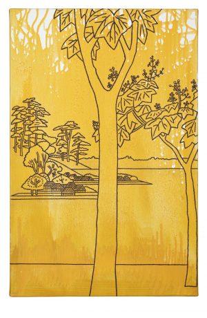 Udo Kaller | Paulownienbäume an einem Teich