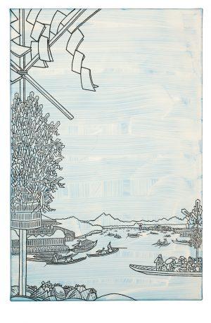Udo Kaller | Wallfahrer am Asakusa-Fluss auf dem Weg zum Ōyama
