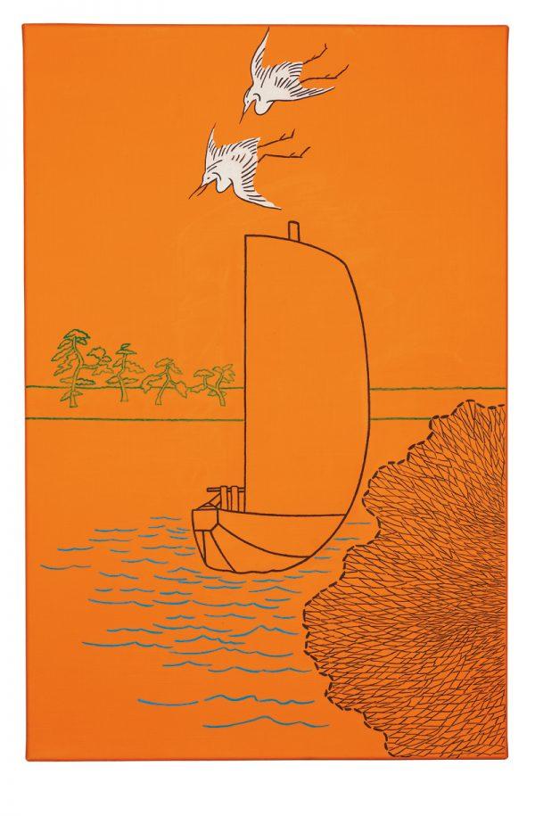 Udo Kaller | Ausgeworfenes Fischernetz auf dem Tone