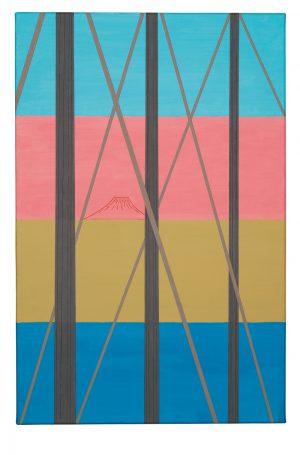 Udo Kaller | Blick auf den Fuji durch Schiffsmasten