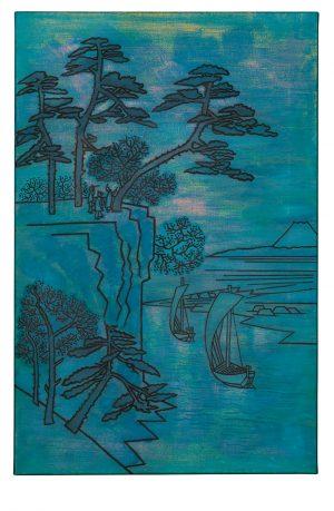 Udo Kaller   Ansicht des Kōnodai-Hügels und des Flusses Tone