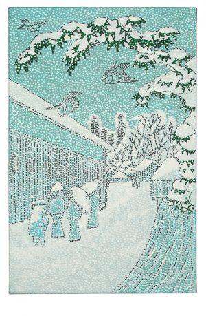 Udo Kaller | Winterliche Straße im Villenviertel Atagoshita