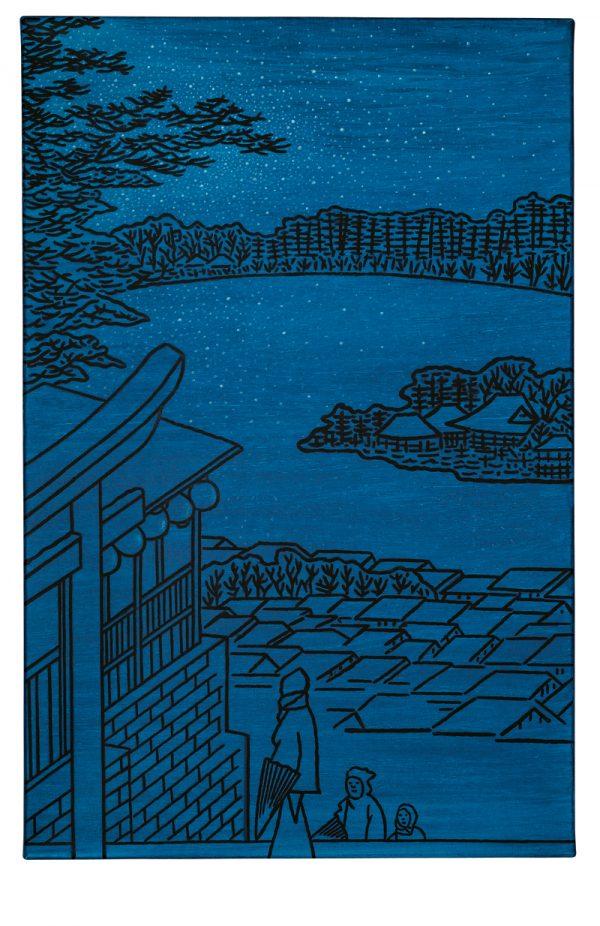 Udo Kaller   Blick vom Tenjin-Schrein auf den Teich Shinobazu