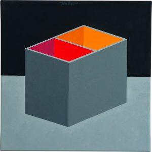 Udo Kaller | Rot-Orange in Grau