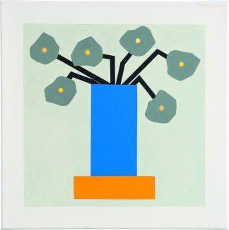 Udo Kaller | Lila Vase auf Sockel