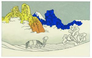 Udo Kaller | Rückwärtige Ansicht des Fuji am Minobu-Fluss